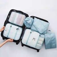 Mihawk sacos de viagem roupas íntimas sapatos embalagem organizador cubo portátil higiene pessoal compõem bolsa acessórios suprimentos