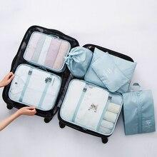 Reise Taschen Kleidung Unterwäsche Schuhe Verpackung Organizer Cube Frau Tragbare Kulturbeutel Machen Up Pouch Zubehör Liefert Artikel