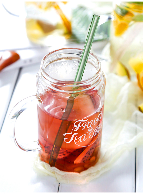 Special Fine Curved Reusable Glass Straws 6