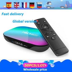 Image 1 - 50 Stks/partij Smart Tv Box Hk1box Android 9.0 Amlogic S905X3 8K Dual Wifi Bt Snelle Set Top Box Hk1 x3 Pk HK1MAX H96 A95x