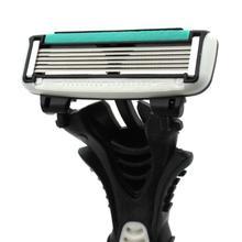 Dorco Pace afeitadora de seguridad de acero inoxidable para hombre, 6 cuchillas, 16 unids/lote, Personal para afeitar
