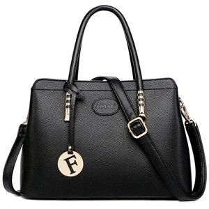 Image 1 - 2019 New Fashion Bag Womens Genuine Leather Luxury Handbags Women Bags Designer Female Shoulder Bag Purse Bolso Mujer