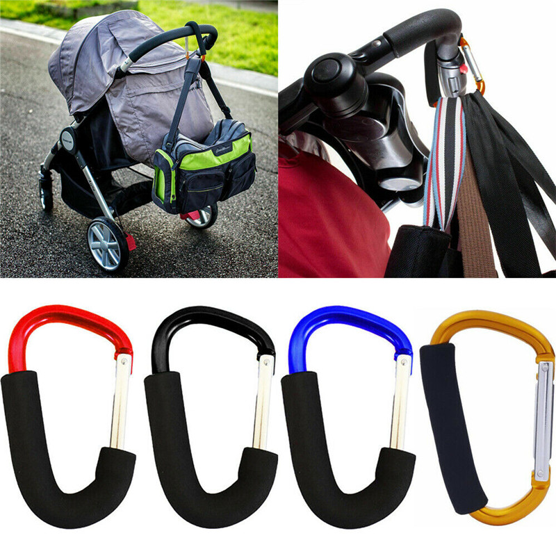 Pram Pushchair Shopping Bag Hook Carabiner Large D Ring Buggy Mummy Clip D/_X