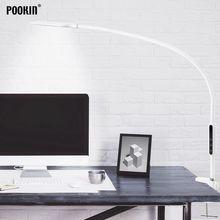 긴 팔 테이블 램프 클립 사무실 Led 책상 램프 원격 제어 침실에 대 한 눈 보호 램프 Led 빛 5 단계 밝기 및 색상