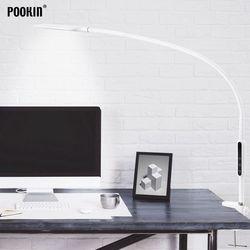 Longue lampe de Table à bras pince bureau Led lampe de bureau télécommande lampe protégée par les yeux pour chambre à coucher lumière Led 5 niveaux luminosité et couleur