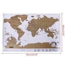 O mapa do mundo do diário de luxo personalizou a novidade do cartaz do atlas do curso