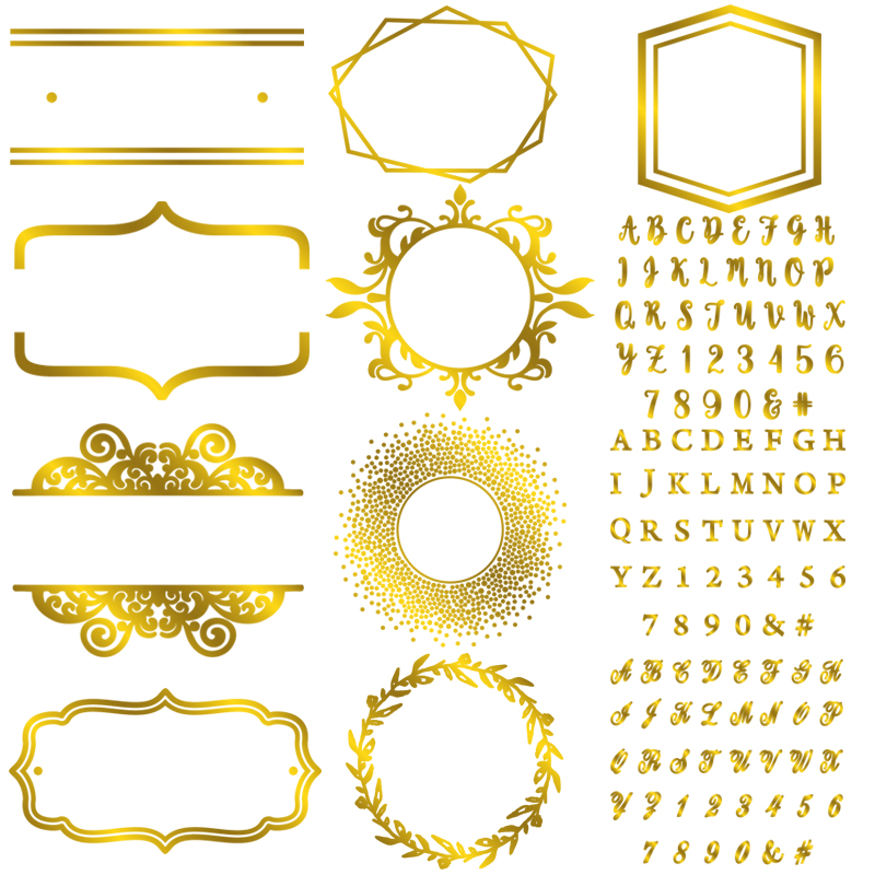 A-Z Alphabets 0-9 Numbers Irregular Frame Hot Foil Plates For Scrapbooking DIY Paper Card Making Embossing Craft New Dies