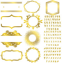 Алфавиты 0 9 цифр неправильная рамка горячие тарелки из фольги