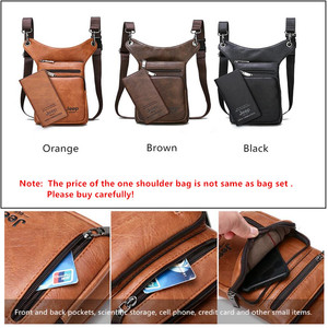 Image 4 - JEEP BULUO Multi function Men Bags Small Crossbody Shoulder Bag Split Leather Fashion Leg waist bag Totes New Young Male Mini
