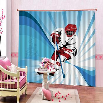 Custom Shower Curtain Cartoon Skie Sports Living room bedroom blackout curtain for window home decoration фото
