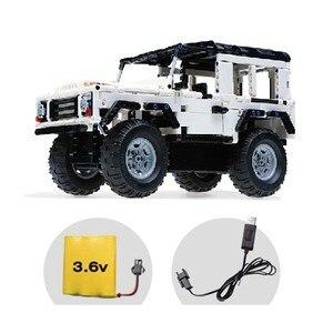 Image 4 - تكنيك سلسلة 553 قطعة المدافع RC نموذج سيارة SUV لتقوم بها بنفسك بنة ألعاب مكعبات السيارات للأطفال متوافق