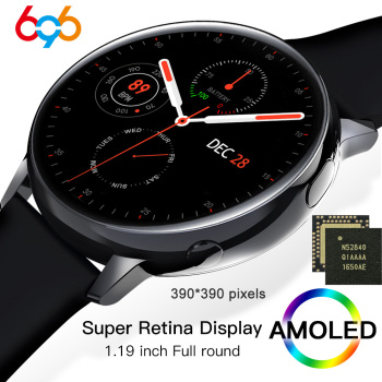 SG2 Nordic nRF52840 Full Touch Amoled 390*390 HD Screen Smart Watch Men Women IP68 Waterproof Heart Rate Fashion Smartwatch BT 5