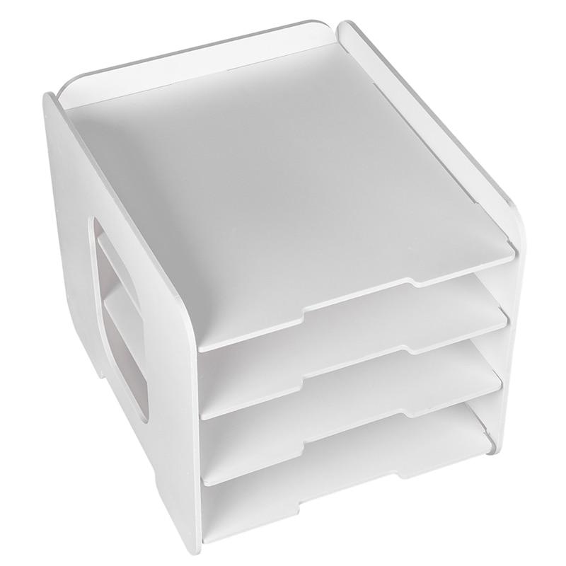 DIY Large Capacity Bookends Multifunctional Office Desktop Storage Box Data Rack School Office Organize