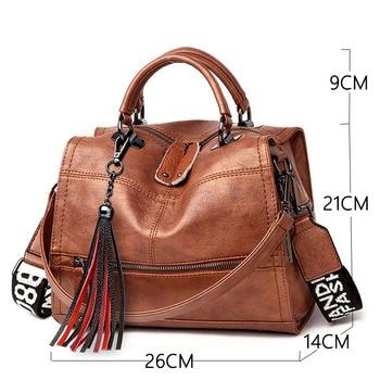 Vintage Tassel Soft Leather Handbags  1