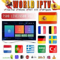 Brésil abonnement IPTV 8000 + iptv Android espagne Portugal France arabe français états-unis royaume-uni pour M3U android tv box ma9 Ssmart TV