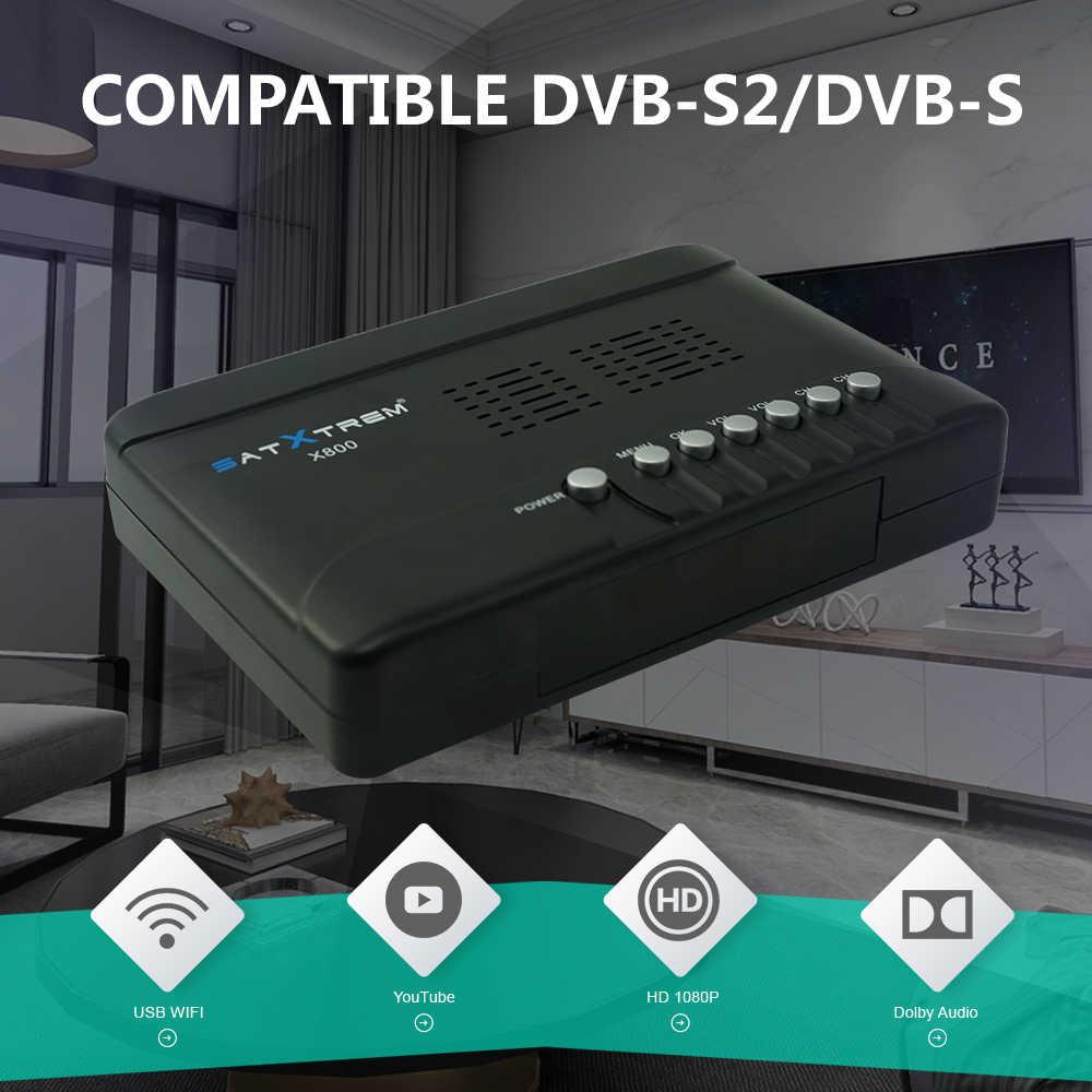 Satxtrem X800 Satelliet Ontvanger Voor Digitale TV Tuner DVB S2 Satelliet Decoder DVB-S2 SAT Box HD + 1 Jaar Europa clines 8 Clines