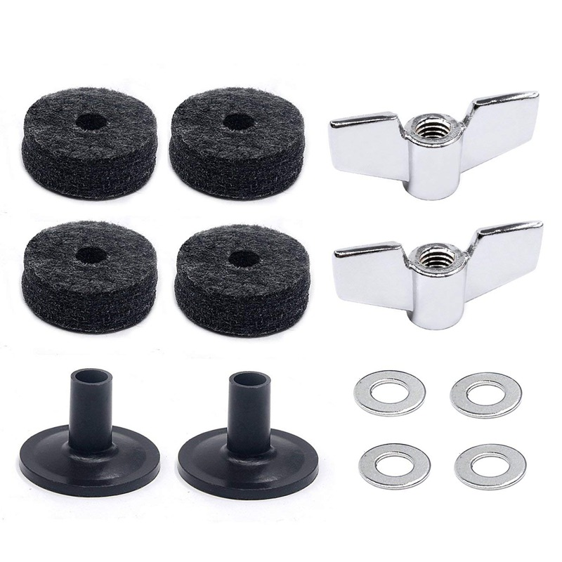 Drum Accessories Kit: Cymbal Felts, Cymbal Sleeves, Wing Nuts