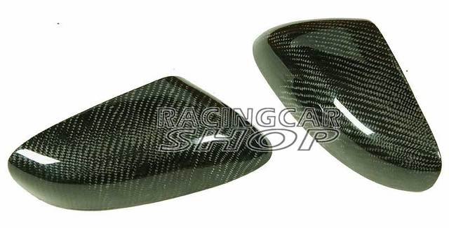 REAL CARBON FIBER WING MIRROR COVER 1pair For MAZDA RX-8 RX8 R3 SE3P 13B MAZDASPEED 03-11 T045M 3