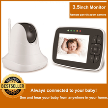 Baby-Monitor Camera Lullaby Remote Night-Vision Infrared Wireless-Video Color with Pan-Tilt-Zoom