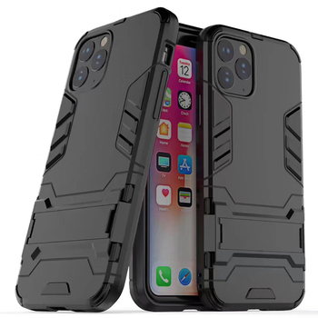 500pcs 2 in 1 Kickstand Iron Man Hybrid Stand Holder Case For iPhone 11 Pro Max XS XR X 8 7 6 6S Plus Rugged TPU+PC Armor Cover