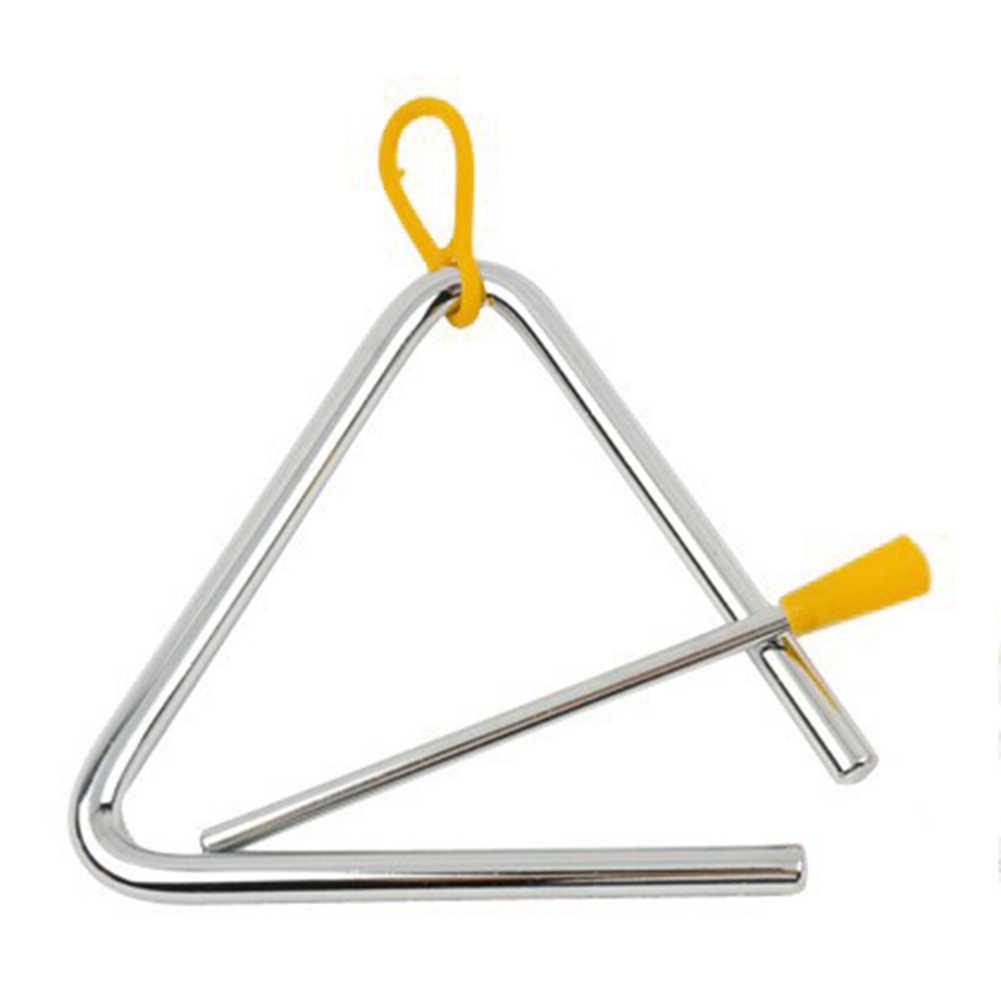 Conciso triângulo sino Crianças Instrumento Musical de Percussão Triângulo Sino Kindergarten Ensinando Kits bestkindergarten ferramenta de ensino