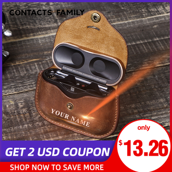Headphone Genuine Leather Case For For Sony WF 1000XM3 Airpods Protective Cover For SONY Case Earpods