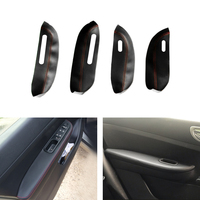 Microfiber Leather Car Door Armrest Panel Protective Cover For Peugeot 307 2004 2005 2006 2007 2008 2009 2010 2011 2012 2013