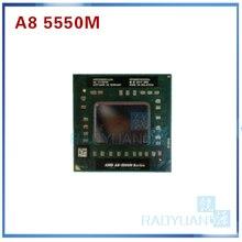 AMD Laptop CPU A8 5500M series A8-5550M A8 5550M AM5550DEC44HL Socket FS1 CPU 4M Cache/2.1GHz/Quad-Core