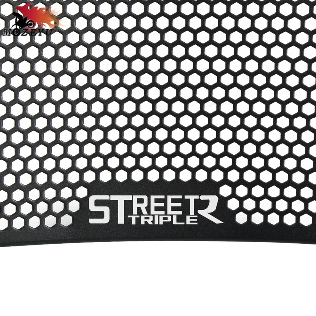 For Triumph Street Triple/R 2009-2013 2012 2011 2010 treet Triple 675/675R 2013 Aluminum Motorcycle Radiator Grille Guard Cover