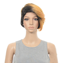 цена на HAIRJOY Synthetic Hair Wig Woman Special Mix Color Short Layered Cut Wigs  Free Shipping