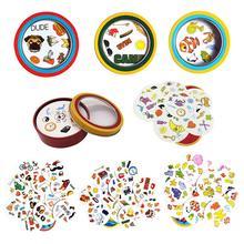 70 мм споттинговые настольные игры, Символьные карты, мини-стиль для детей, как это, Классические Обучающие карточные игры, английские домашние Вечерние игры