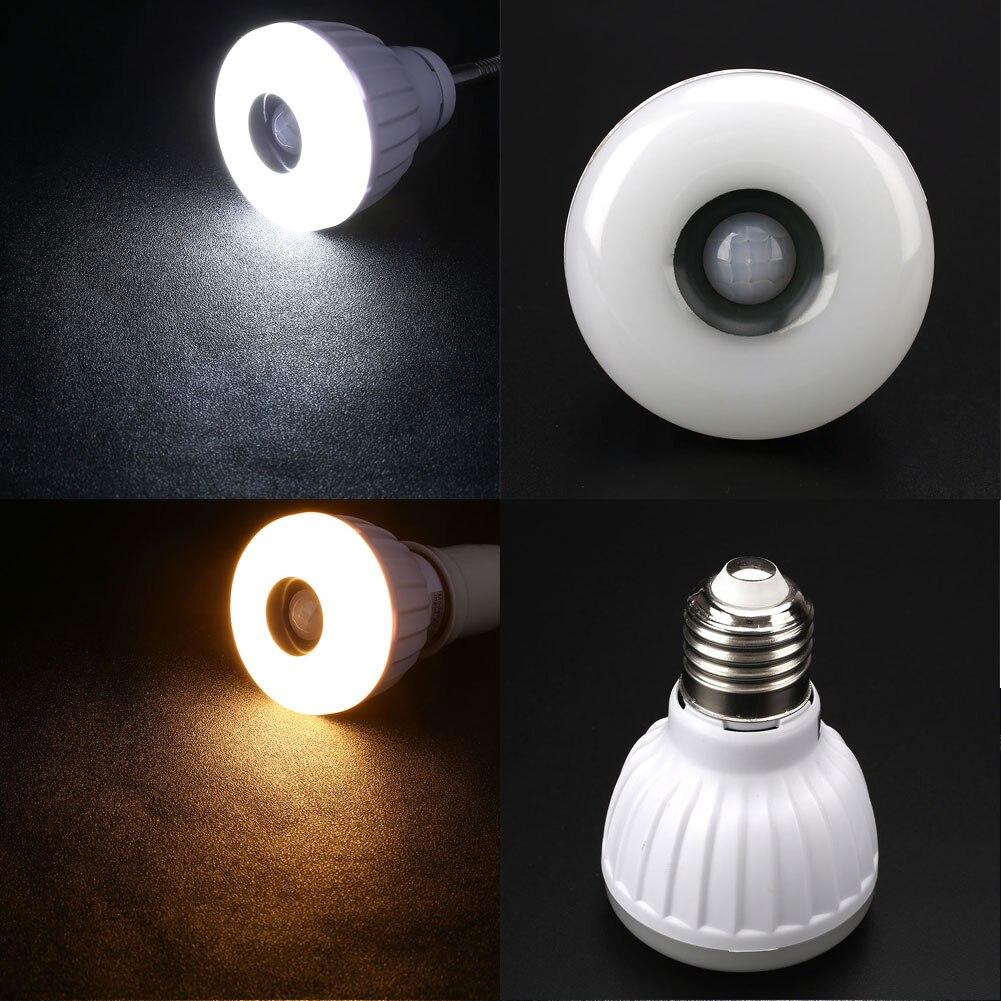 5W E27 White 25-LED Lamp PIR Motion Sensor Detection Corridor Stair Light Bulb