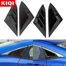 KIQI – autocollant de couverture de vitres arrière de voiture 2 pièces/ensemble, garniture de volet de fenêtre triangulaire pour Toyota C-HR CHR C HR 2016 – 2020, accessoires