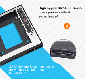 Tishric Универсальный пластик алюминий 12,7 мм SATA 3,0 2,5
