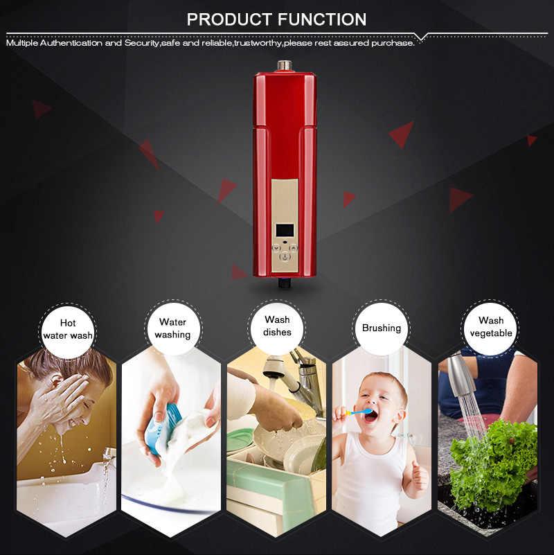 Chauffe-eau électrique sans réservoir douche instantanée 220V 5500W ABS chauffe-eau domestique pour cuisine intérieure salle de bains chauffe-eau 10L