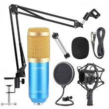 Microfone de metal condensador microfones para computador portátil estúdio de gravação streaming karaoke youtube tiktok jogos dj BM-800
