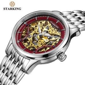 Image 3 - STARKINGนาฬิกาผู้หญิงหรูหราสแตนเลสHollow Skeletonอัตโนมัติผู้หญิงนาฬิกาจีนHodinky Damske 5ATM AL0185