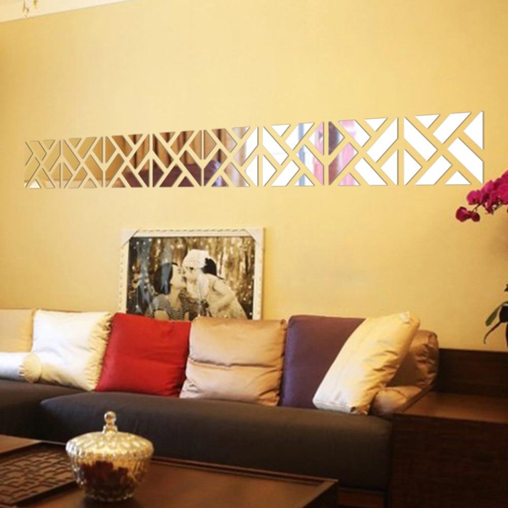 32Pcs Removable 3D Mirror Acrylic Wall Sticker DIY Art Vinyl Decal Home Decor