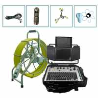 60m/80m Fiberglass Cable Sewer Pipe CCTV Inspection Camera Wholesale Drain Pipe Sewer Pan Tilt Inspection Detect Video Camera
