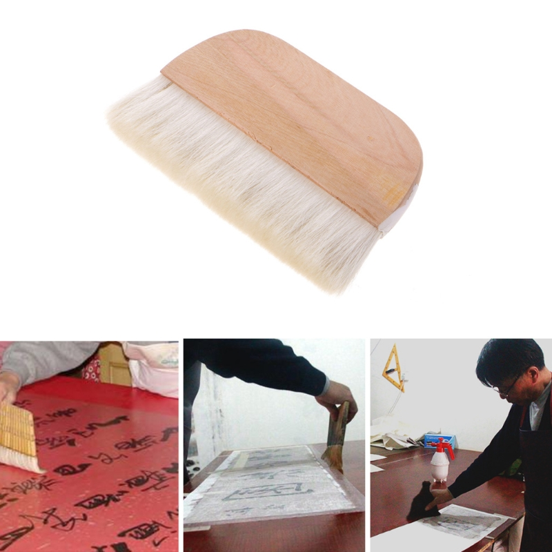 Wholesale Dropshipping   8in Wooden Handle Art Supplies Watercolor Brush Goat Hair Hake Brush Paint Brush