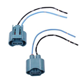 YUNPICAR 9005 HB3 H10 9145 gniazdo żarówki żeński Adapter przedłużający kable w wiązce złącze do reflektorów światła przeciwmgielne 2 sztuk tanie i dobre opinie Drut miedziany