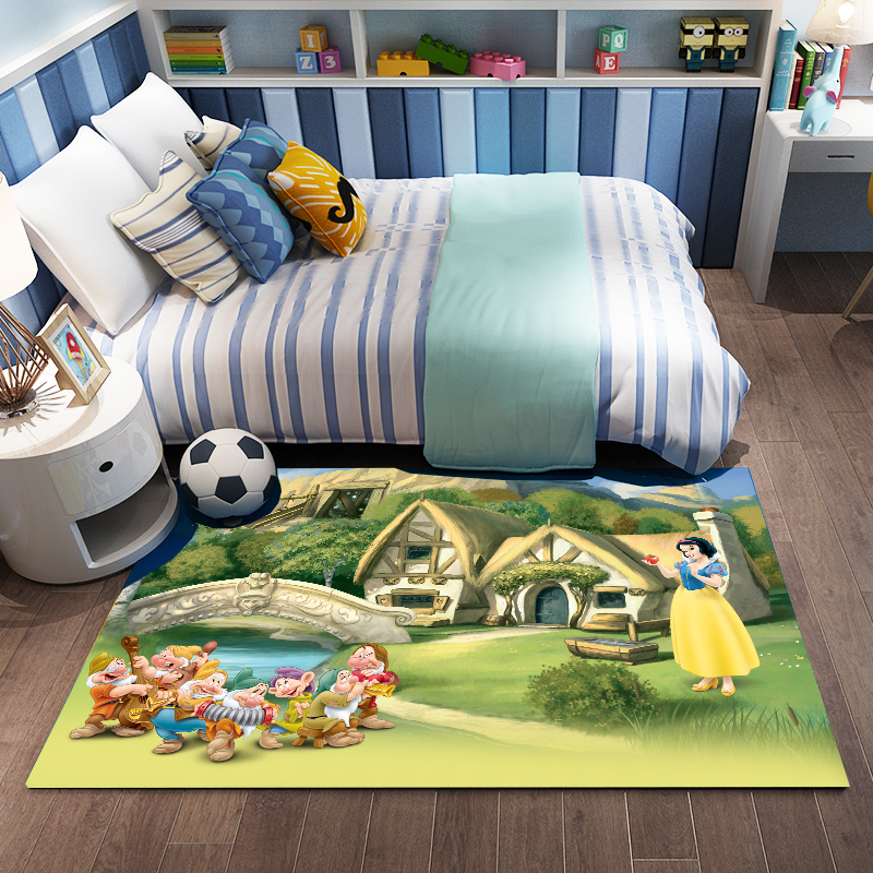 Cute Princess Mat Girls Playmat Snow White Carpet  Kids Rug Carpet Floor Bedroom Doormat Non-slip Mat  Birthday Gift