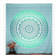 Tapestry Wall Hanging Indian Mandala Tapestry Hippie Wall Hanging Bohemian Bedspread Home Decor Shawl Mat Carpet Home Cushion(China)