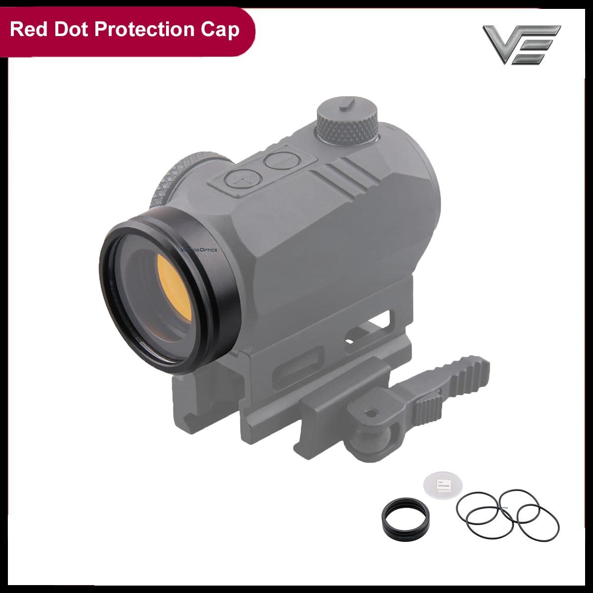 Векторная оптика полная металлическая пуленепробиваемая Охота страйкбол красная точка прицел объектив Защита с крышкой