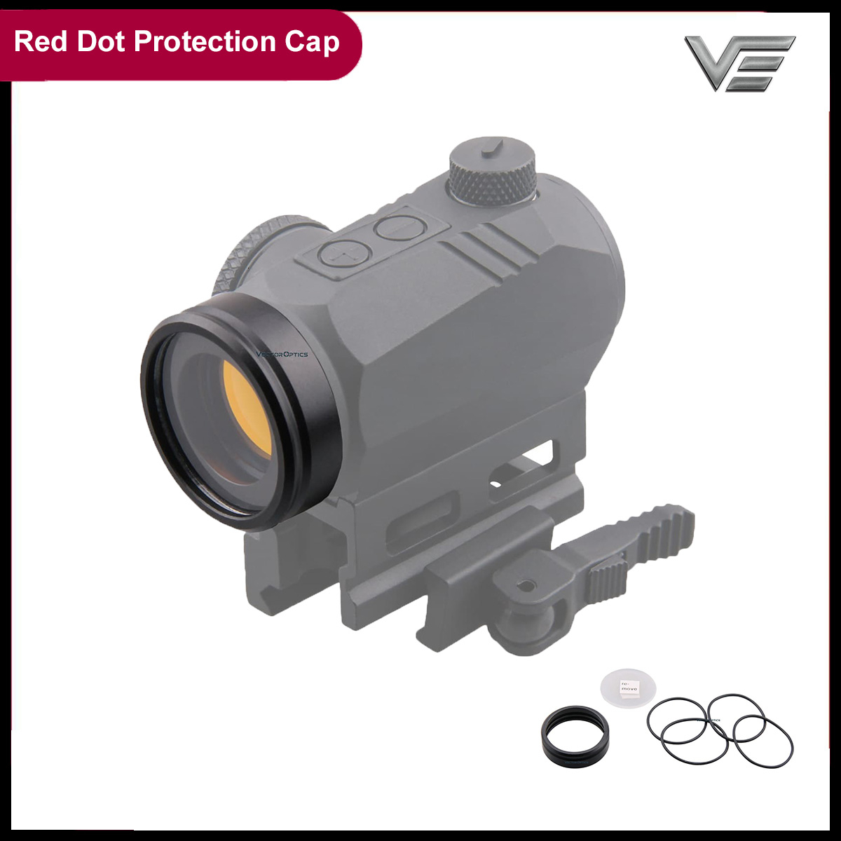 Vector Optics Full Metal Bulletproof Hunting Airsoft Red Dot Sight Scope Objective Lens Protection With Cover