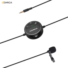 Comica V03 Lavalier Lapel Microphone Clip on Omnidirectional Condenser interview Microphone for iPhone Smartphone DSLR Cameras