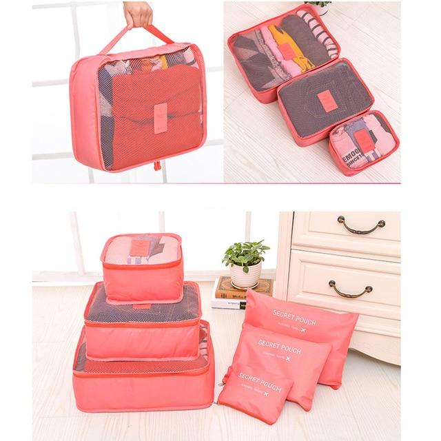 Hot Sale 6 Pieces Travel Organizer Storage Bag Set Clothes Bags Suitcase 2