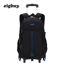 Trolley Children School Bags Mochilas Removable Kids Backpacks 6 Wheels Large Capacity Backpack Luggage For Boys Backpack Escola large capacity kids rolling backpacks for boys student trolley backpack luggage six or two wheels unisex trolley school bags