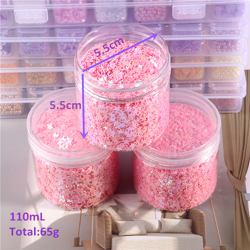 1 Box Pink Nail Sequins For Craft 3mm 4mm 5mm Star Shape Sequin Glitters Paillette Nail confetti For DIY  Article Decor Filler