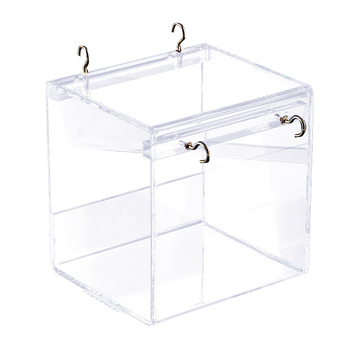 Portable House Cage Parakeets Pet Supplies Cockatiel Cleaning Parrots Shower With Hanging Hooks Bird Bathtub Transparent Acrylic 2